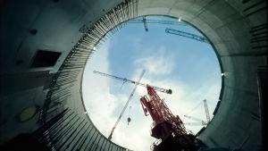 Bild av bygget av kärnkraftverket Olkliouto 3