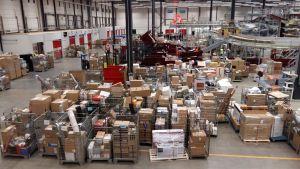 Postens logistikcentral i Lundo.