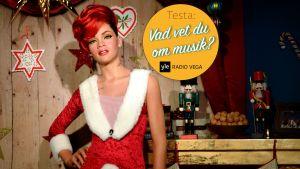 Figur föreställande sångerskan Rihanna i Madame Tussauds vaxkabinett.