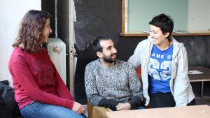 Hanan Snih, Wisam Abud och Yasmin Abud ska öppna pop up cafe
