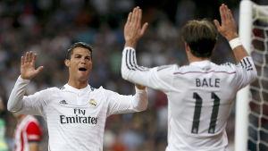 AS Roma får se upp med Ronaldo och Bale i Madrid.