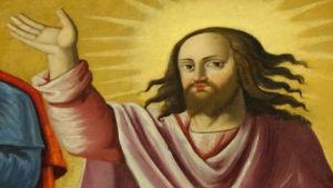 Fresk föreställande Jesus Kristus.