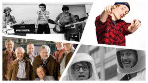 Kuvassa erilaisia suomenruotsalaisia muusikoita.