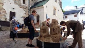 Sandslott vid Åbo slott.