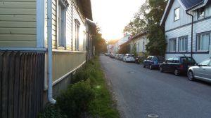 Gata i Åbostadsdelen Lonttis.