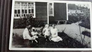 Ruth Johanssons barndomsfamilj i Mörkby, Pargas