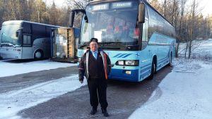 På KO Johanssons bussdepå i Borgå.