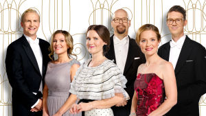 Porträttbild på det redaktionella teamet bakom Fest på slottet.