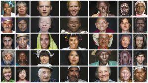 Kasvoja valokuvaaja Yann Arthus-Bertrandin ohjaamasta kolmituntisesta dokumenttielokuvasta Human.