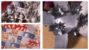 Kollaasi lahjapaketeista