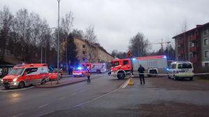 Ambulanser vid Igelkottsvägen