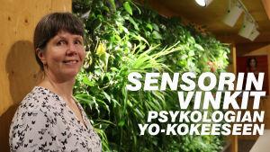 Psykologian sensori Sirpa Vahtera.