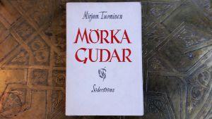 """Pärmbild på Mirjam Tuominens novellsamling """"Mörja gudar""""."""