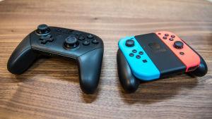 Switch pro kontroller och Switch Joycon kontroller