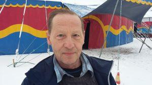 Jimmy Johansson, teknisk chef vid Cirkus Finlandia 2017