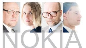Nokia-kuunnelman päähenkilöt.
