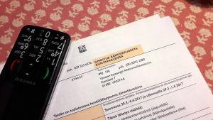 Ilmoitus äänioikeudesta kuntavaaleissa.