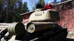 Gunnar Baarman i sin tanks