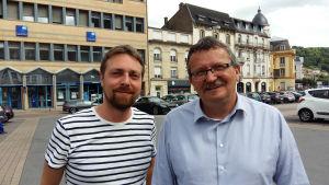 Vincent Hamen (vänster med skägg) och Francis Herbays