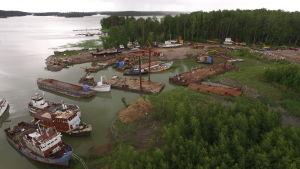 Misstänkt miljöbrottsplats på Skallholmen i Borgå.