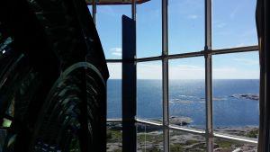 Utsikten över havet från Utö fyr.