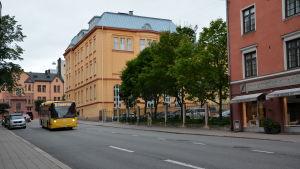 Mariegatan och Cygnaeusskolan i Åbo.