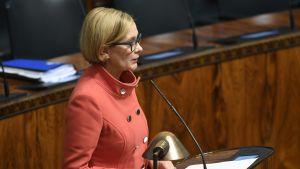 Inrikesminister Paula Risikko (Saml.)
