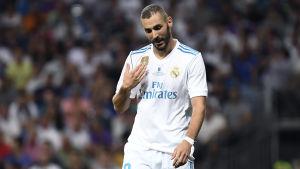 Karim Benzema har spelat för Real Madrid sen 2009.
