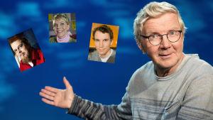 Pirkka-Pekka Petelius lukee Tuomas Kyrön, Heli Laaksosen ja Juha Itkosen satuja.
