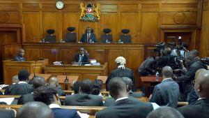 Högsta domstolen i Kenya kunde inte ta ställning till frågan om presidentvalet.