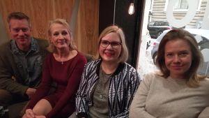 Mårten Svartström, Heli Vaaranen, Michaela von Kügelgen och Sonja Kailassaari
