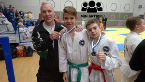 Poträttbild på trion Nico Flinck, Patric Ring och Arseny Ignatiev.