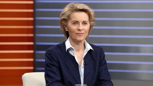 Tysklands försvarsminister Ursula von der Leyen under en valdebatt i tv i september 2017.