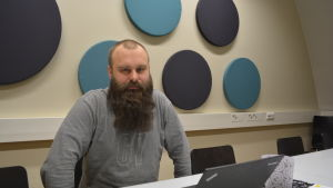 Sven Söderholm är projektarbetare för Visit Jakobstad region