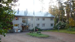 Ett hus i Leksvall som är servicehemmet Attendo Rosinne.