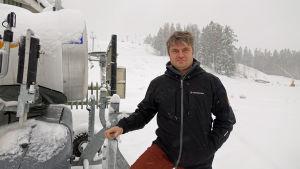 Niklas Blomander i skidbacken