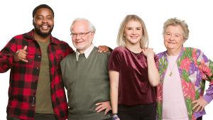 Kotimaisessa uutuussarjassa Seniorit somessa nuoret esittelevät ja opettavat ikäihmisille internetin ihmeellistä maailmaa.