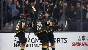 Vegas Golden Knights firar mål.