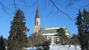 En kyrka.