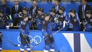 Lejonen firar mål i OS
