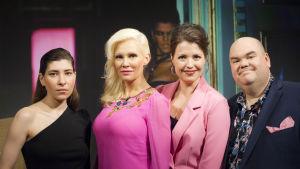 Linda Lampenius, Malin Nyqvist, Eva Frantz och Johan Lindroos.