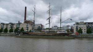 Bild över museiskeppet Sigyn vid Varvstorget.