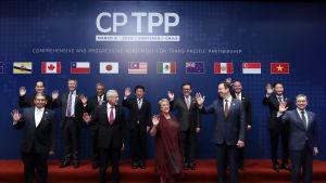 Elva länder kring Stilla havet undertecknade nyligen ett nedbantat TPP-avtal i Chile