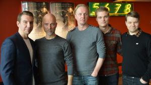 Aku Louhimies, Eero Aho, Aku Hirviniemi,  Hannes Suominen och Akseli Kouki.