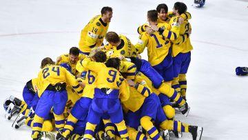 Sverige firar VM-guld.