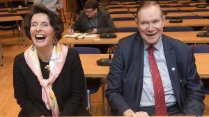 Också Paavo Lipponen var på plats när Anne Berner presenterade planerna för Ishavsbanan.