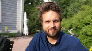 Jussi Sorjanen, ny konstnärlig ledare för Teater Viirus. I Kajsaniemi i juni 2018.