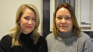 Sari Somppi och Nina Jansson från brottsofferjouren i Vasa.