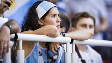 Argentinska fans surade efter oavgjort mot Island.