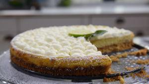 Leftover Key lime pie på ett fat